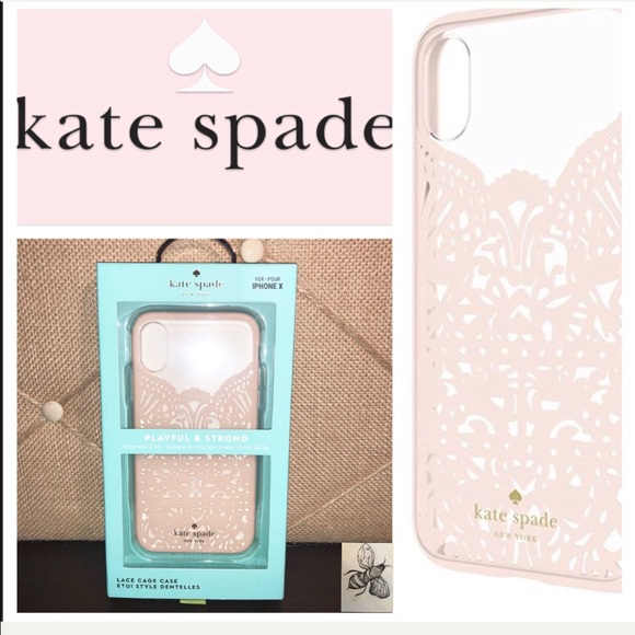 new arrival 8579b cee77 Kate ♠️ Spade Cream Lace Iphone X Case